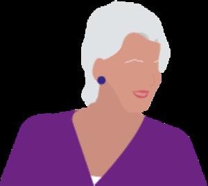 Femme blanche cheveux blancs